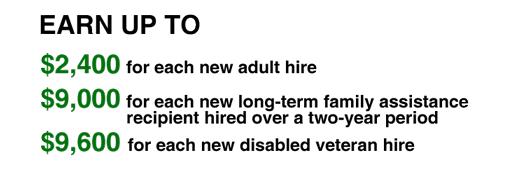 Earn some green for hiring an employee!