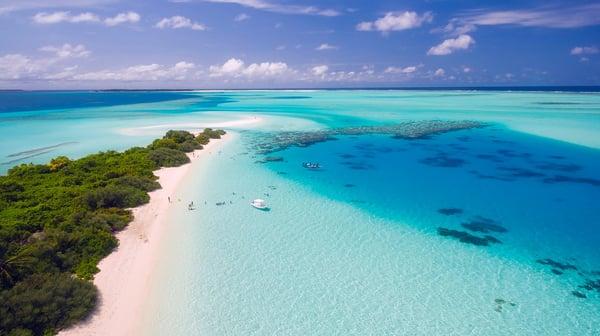 Beautiful ocean and beach in Maldives.