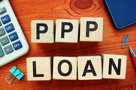 PPP Loan in wood blocks